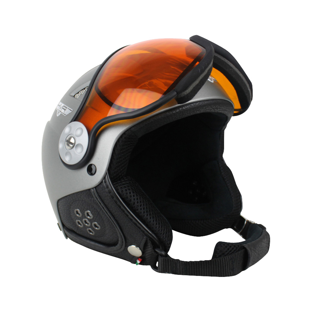 HMR H1 Soft Photochromic skihelm zilver