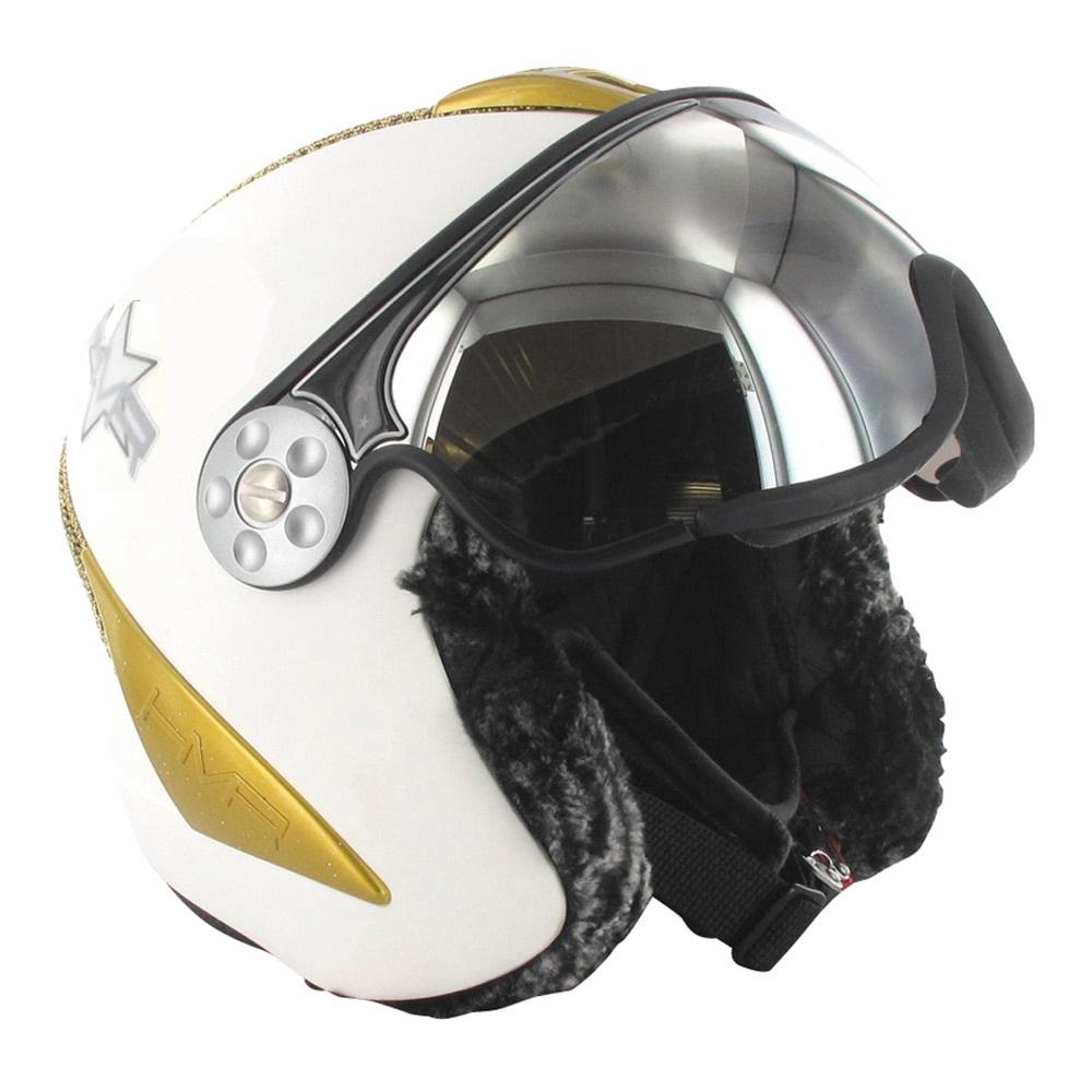 HMR skihelm H2 wit/goud