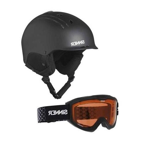 Sinner CombiPack Pincher-Lakeridge skihelm en skibril unisex zwart