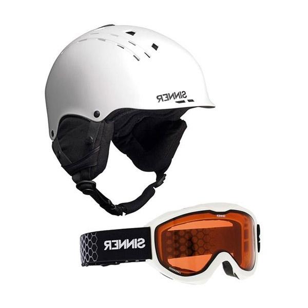 Sinner CombiPack Pincher-Lakeridge skihelm en skibril unisex wit