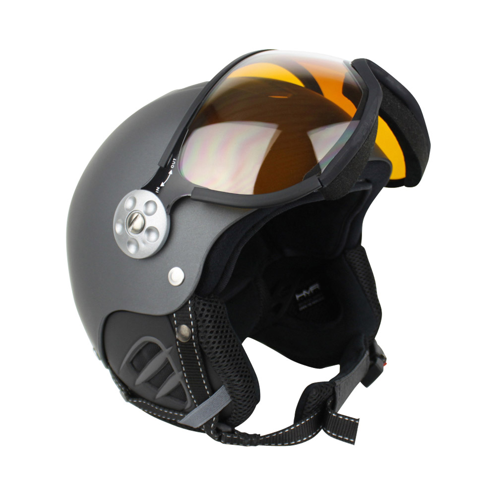 Zer035 Basic photochromic skihelm unisex grijs